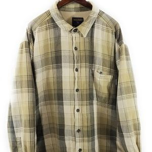 Woolrich Men' Flannel Shirt Fleece Jack Lined Canv